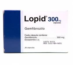 Lopid 300 mg (10 pills)