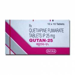 Qutan 25 mg (10 pills)