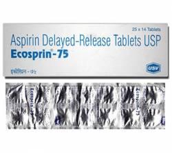 Ecosprin 75 mg (14 pills)