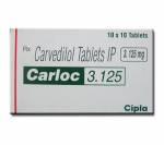 Carloc 3.125 mg (10 pills)